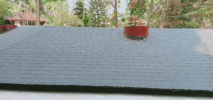 Tấm ngói bitum giả đá, ngói giấy dầu trang trí mái bê tông, tấm lợp nhựa đường cao cấp4