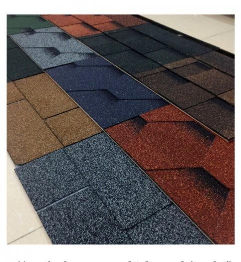 Tấm ngói bitum giả đá, ngói giấy dầu trang trí mái bê tông, tấm lợp nhựa đường cao cấp0