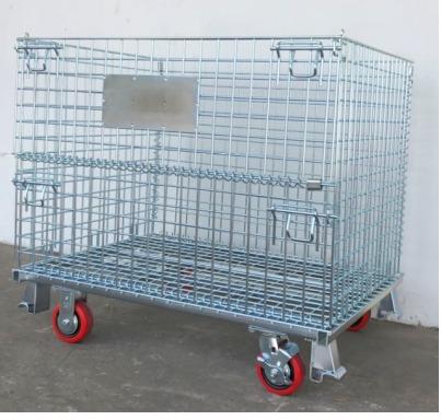 Lồng trữ hàng có bánh xe, lồng sắt mạ kẽm, xe đẩy lồng, sọt trữ hàng, lồng thép đựng hàng, lồng thép có bánh xe, pallet lưới, xe đẩy hàng nặng,lồng trữ hàng1