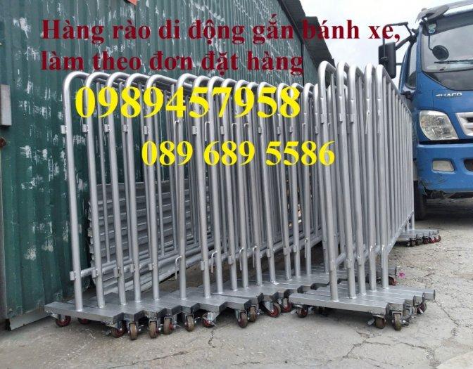 Hàng rào điều tiết giao thông, hàng rào chắn tạm thời, Hàng rào chắn có bánh xe0