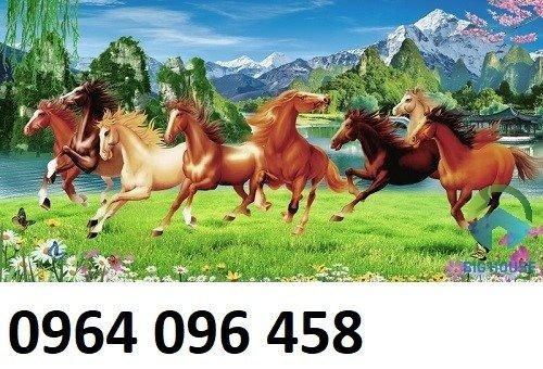 Tranh treo tường 3d mẫu tranh ngựa phi - HD447