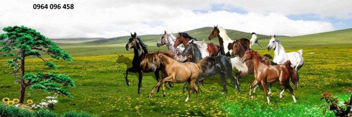 Tranh treo tường 3d mẫu tranh ngựa phi - HD446