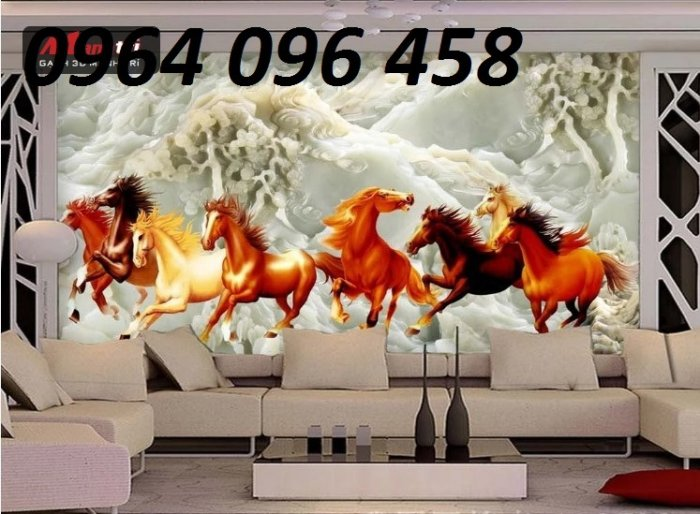 Tranh treo tường 3d mẫu tranh ngựa phi - HD445