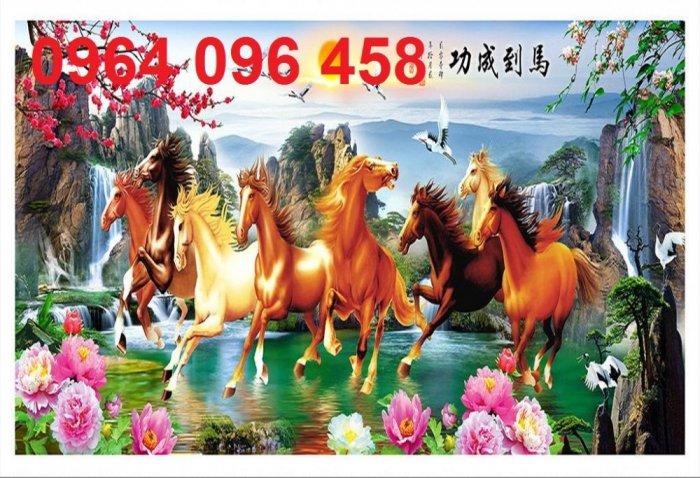 Tranh treo tường 3d mẫu tranh ngựa phi - HD442