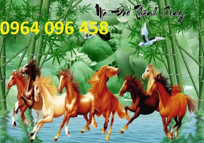 Tranh treo tường 3d mẫu tranh ngựa phi - HD441