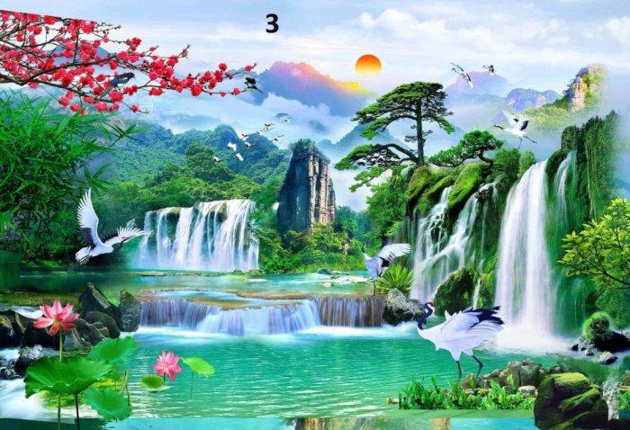 Tranh phong cảnh - tranh gạch phong cảnh 3d - 73SKK7