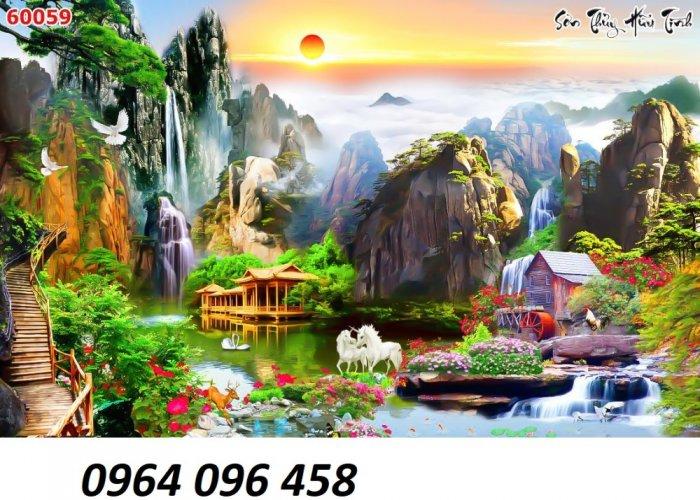 Tranh phong cảnh - tranh gạch phong cảnh 3d - 73SKK1