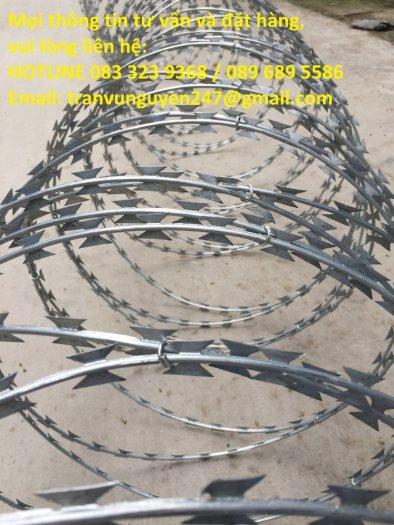 Dây kẽm gai, dây thép gai hình dao làm rào bảo vệ7