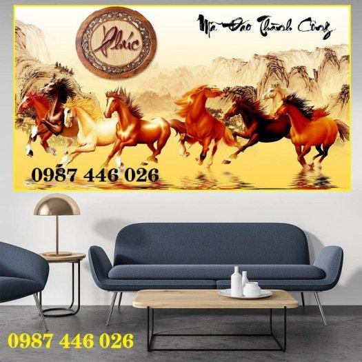 Gạch tranh ngựa- mã đáo thành công HP715014