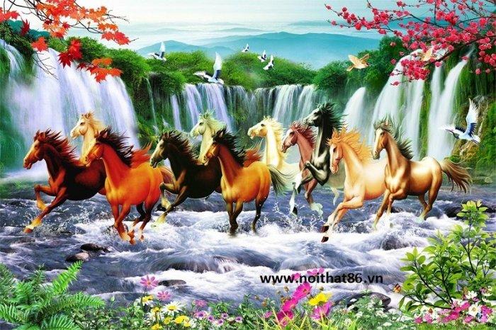 Gạch tranh ngựa- mã đáo thành công HP715013