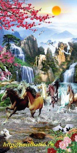 Gạch tranh ngựa- mã đáo thành công HP715012