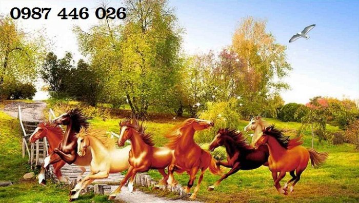 Gạch tranh ngựa- mã đáo thành công HP715010