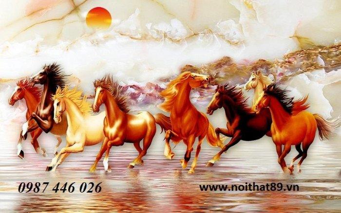 Gạch tranh ngựa- mã đáo thành công HP71509
