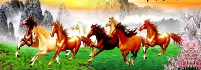Gạch tranh ngựa- mã đáo thành công HP71508
