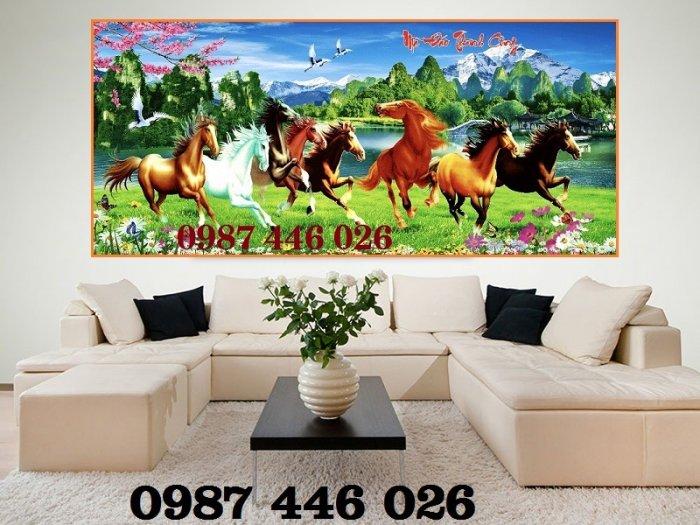 Gạch tranh ngựa- mã đáo thành công HP71506