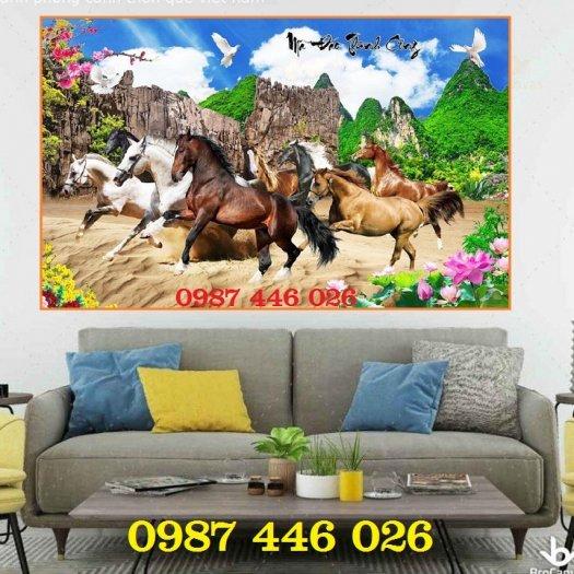 Gạch tranh ngựa- mã đáo thành công HP71505