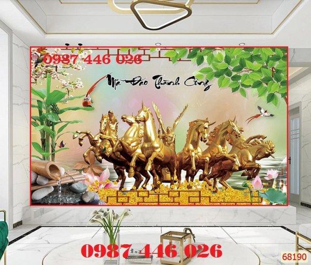 Gạch tranh ngựa- mã đáo thành công HP71504
