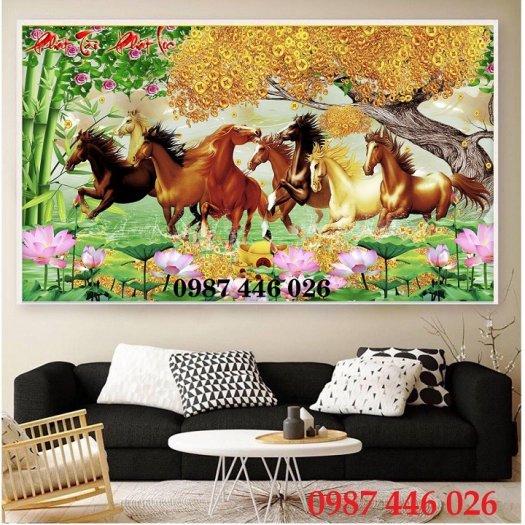 Gạch tranh ngựa- mã đáo thành công HP71502