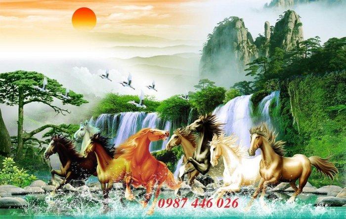 Gạch tranh ngựa- mã đáo thành công HP71501