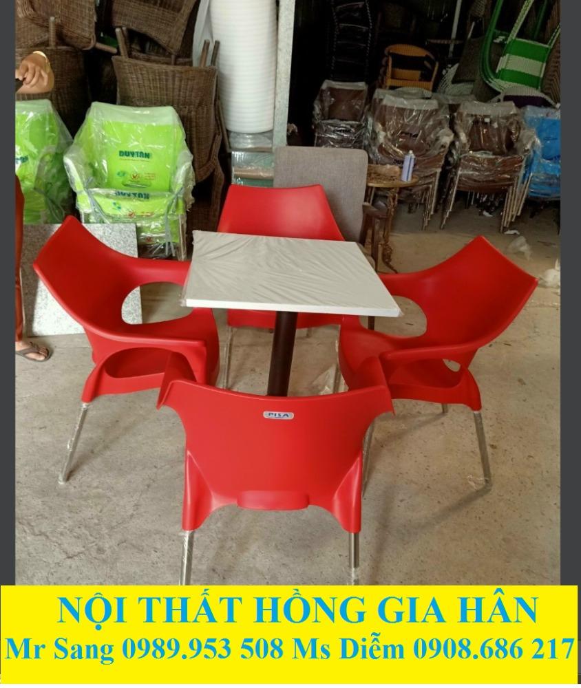 Bộ Bàn Ghế Cafe Nhựa Mặt Đá HGH0