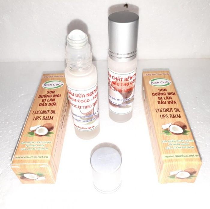 Dầu dừa nguyên chất dưỡng môi chai bi lăn nguồn hàng sỉ  Công ty TNHH Be The Rich - 0975 603 0041