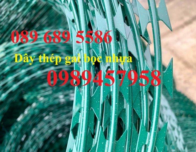 Dây thép gai hình cầu, Dây kẽm lam giá rẻ, dây thép gai bọc nhựa9
