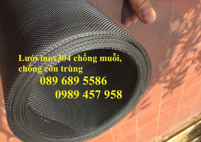 Lưới chống muỗi, lưới chắn côn trùng inox 304, Lưới inox 316 và Lưới inox 2015