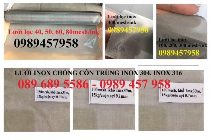 Lưới chống muỗi, lưới chắn côn trùng inox 304, Lưới inox 316 và Lưới inox 2013
