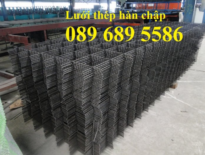 Xưởng sản xuất lưới thép hàn chập phi 6 ô 50x50, 100x100, Lưới thép hàn phi 6 ô 200x2000