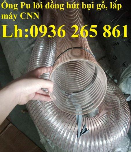 Mua ống Pu mềm lò xo lõi đồng phi120 lắp quạt hút bụi trong xưởng may20