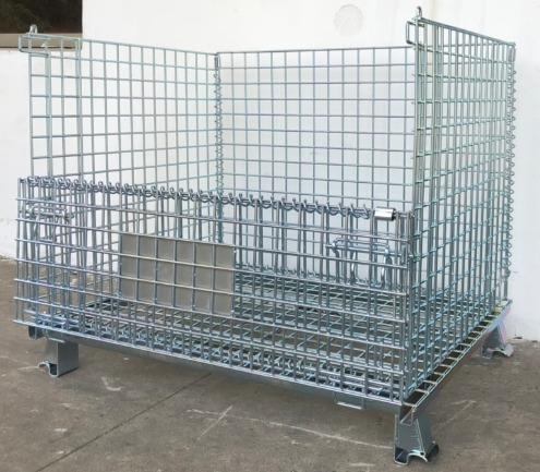 Lồng sắt chứa hàng, pallet lưới, xe đẩy lưới, 1000X800X8402