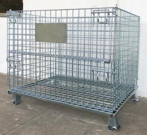 Lồng sắt chứa hàng, pallet lưới, xe đẩy lưới, 1000X800X8401
