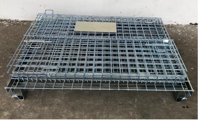 Lồng sắt chứa hàng, pallet lưới, xe đẩy lưới, 1000X800X8400