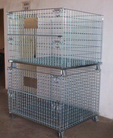 Lồng trữ hàng container, lồng thép, lồng thép xi mạ, lồng sắt, Stocky 1200X1000X9000