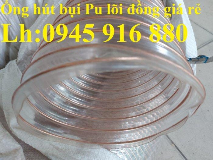 Giá ống nhựa Pu lò xo lõi đồng phi200 dùng cho quạt hút bụi công nghiệp20
