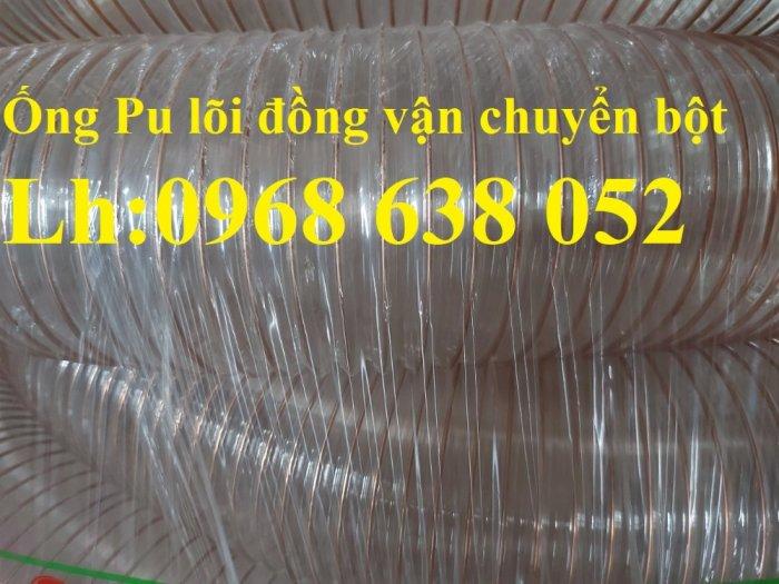 Giá ống nhựa Pu lò xo lõi đồng phi200 dùng cho quạt hút bụi công nghiệp15