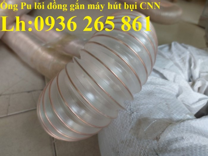 Giá ống nhựa Pu lò xo lõi đồng phi200 dùng cho quạt hút bụi công nghiệp10