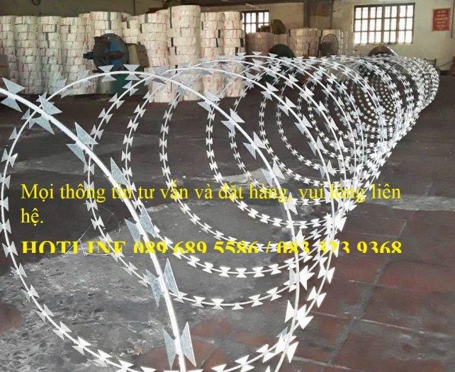 Dây thép gai hình lưỡi lam, hàng rào thép gai hình dao1