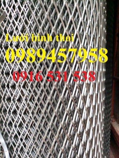 Lưới dập giãn 3ly khổ 30x60, Lưới thép hình thoi 4ly, 5ly, Lưới dập giãn mạ kẽm nhúng nóng3