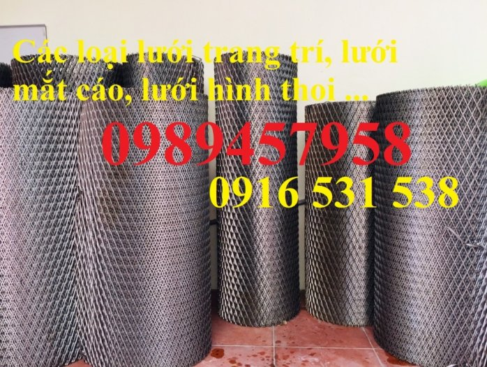 Lưới dập giãn 3ly khổ 30x60, Lưới thép hình thoi 4ly, 5ly, Lưới dập giãn mạ kẽm nhúng nóng2