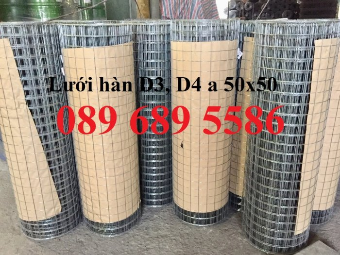 Lưới thép làm giàn phong lan, Lưới thép Phi3 ô 50x50, Lưới phi 4 ô 50x50 dạng cuộn5