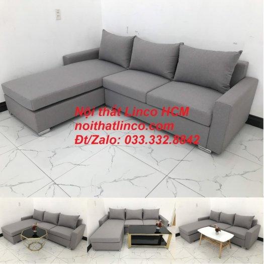 Sofa góc Tphcm | Bộ ghế sofa góc L xám trắng giá rẻ | Nội thất Linco HCM Sài Gòn Tphcm SG Hồ Chí Minh10