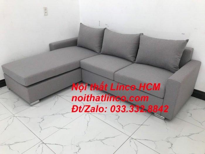 Sofa góc Tphcm | Bộ ghế sofa góc L xám trắng giá rẻ | Nội thất Linco HCM Sài Gòn Tphcm SG Hồ Chí Minh9