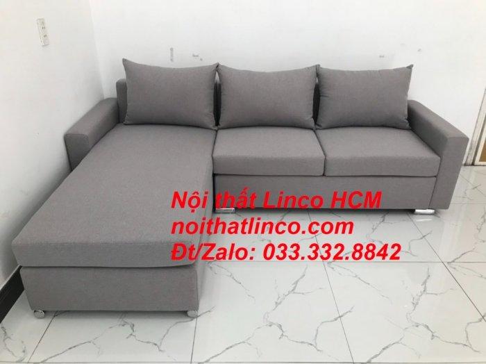 Sofa góc Tphcm | Bộ ghế sofa góc L xám trắng giá rẻ | Nội thất Linco HCM Sài Gòn Tphcm SG Hồ Chí Minh8