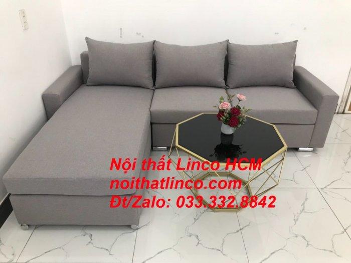 Sofa góc Tphcm | Bộ ghế sofa góc L xám trắng giá rẻ | Nội thất Linco HCM Sài Gòn Tphcm SG Hồ Chí Minh6