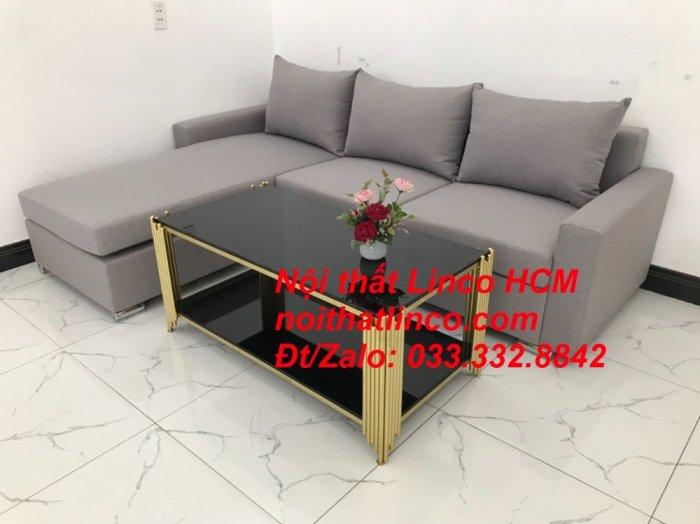 Sofa góc Tphcm | Bộ ghế sofa góc L xám trắng giá rẻ | Nội thất Linco HCM Sài Gòn Tphcm SG Hồ Chí Minh5