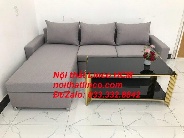 Sofa góc Tphcm | Bộ ghế sofa góc L xám trắng giá rẻ | Nội thất Linco HCM Sài Gòn Tphcm SG Hồ Chí Minh4