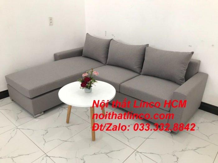 Sofa góc Tphcm | Bộ ghế sofa góc L xám trắng giá rẻ | Nội thất Linco HCM Sài Gòn Tphcm SG Hồ Chí Minh1