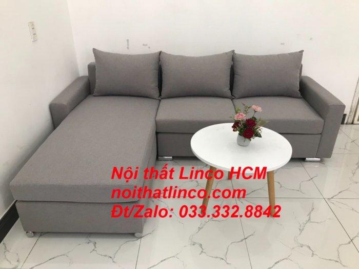Sofa góc Tphcm | Bộ ghế sofa góc L xám trắng giá rẻ | Nội thất Linco HCM Sài Gòn Tphcm SG Hồ Chí Minh0