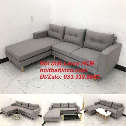 Bộ ghế sofa góc L màu xám ghi trắng, sofa góc giá rẻ nhỏ | Nội thất Linco Tphcm HCM Hồ Chí Minh Sài Gòn10